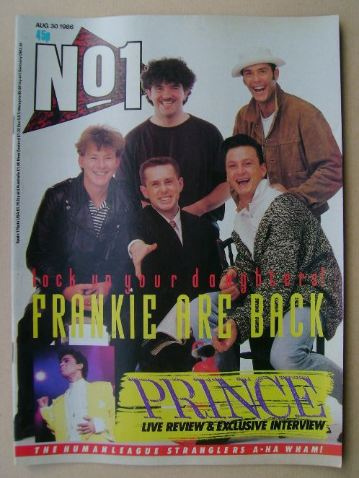 <!--1986-08-30-->No 1 Magazine - Frankie Goes To Hollywood cover (30 August
