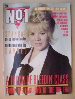 No 1 Magazine - Letitia Dean cover (8 November 1986)
