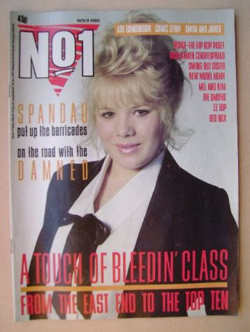 <!--1986-11-08-->No 1 Magazine - Letitia Dean cover (8 November 1986)