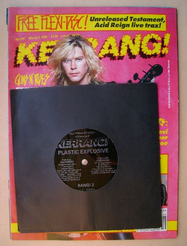 <!--1990-03-03-->Kerrang magazine - Duff McKagan cover (3 March 1990 - Issu