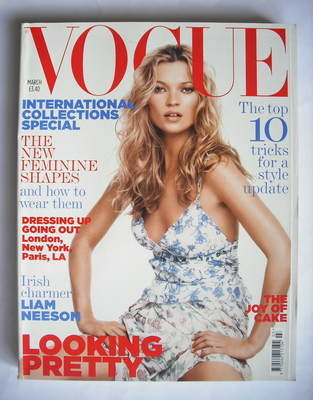 <!--2005-03-->British Vogue magazine - March 2005 - Kate Moss cover