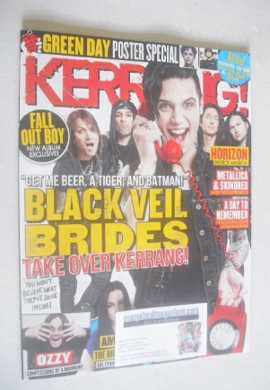 <!--2014-10-04-->Kerrang magazine - Black Veil Brides cover (4 October 2014