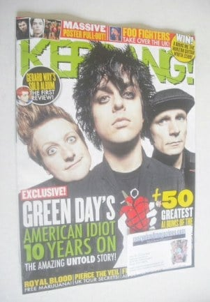 <!--2014-09-20-->Kerrang magazine - Green Day cover (20 September 2014 - Is