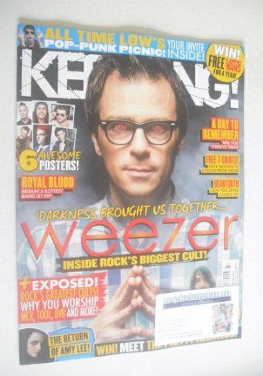 <!--2014-09-13-->Kerrang magazine - Weezer cover (13 September 2014 - Issue