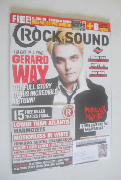 <!--2014-10-->Rock Sound magazine - Gerard Way cover (October 2014)