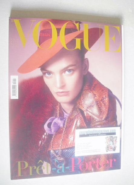 <!--2011-07-->Vogue Italia magazine - July 2011 - Juliane Gruner cover