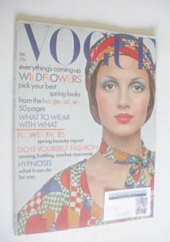 British Vogue magazine - February 1972
