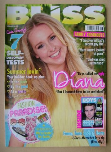 <!--2010-07-->Bliss magazine - Summer 2010 - Diana Vickers cover