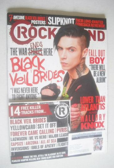 <!--2014-11-->Rock Sound magazine - Andy Biersack cover (November 2014)