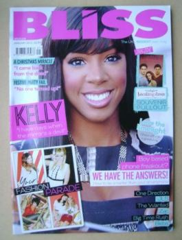 Bliss magazine - January 2012 - Kelly Rowland cover