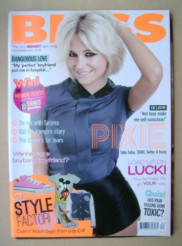 <!--2011-11-->Bliss magazine - November 2011 - Pixie Lott cover