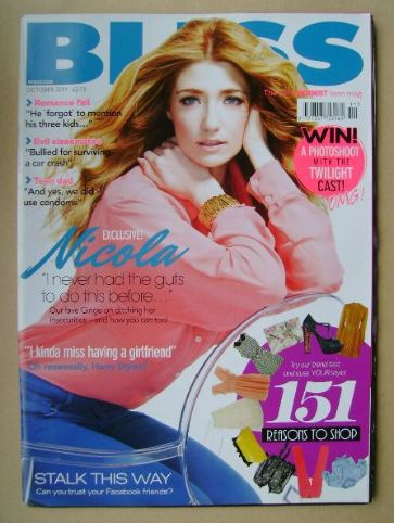 <!--2011-10-->Bliss magazine - October 2011 - Nicola Roberts cover