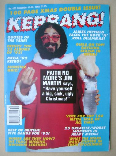 <!--1992-12-19-->Kerrang magazine - Jim Martin cover (19 December 1992 - Is