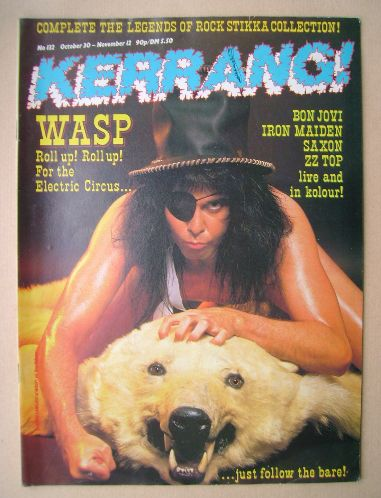 <!--1986-10-30-->Kerrang magazine - Blackie Lawless cover (30 October - 12