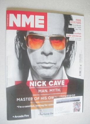 <!--2014-09-13-->NME magazine - Nick Cave cover (13 September 2014)