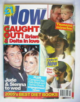 Now magazine - Brian McFadden and Delta Goodrem cover (19 January 2005)