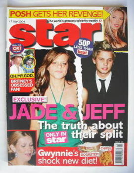 Star magazine - Jade Goody and Jeff Brazier cover (17 May 2004, Issue 26)