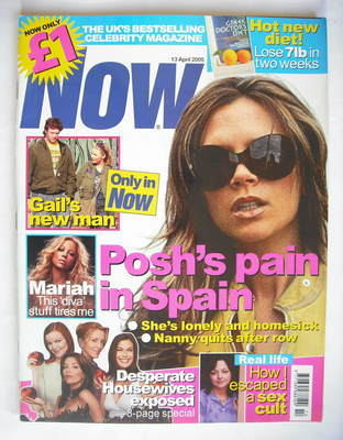 <!--2005-04-13-->Now magazine - Victoria Beckham cover (13 April 2005)