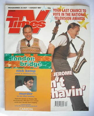 <!--1997-07-26-->TV Times magazine - Robson Green and Jerome Flynn cover (2