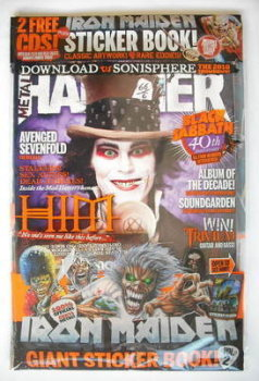 Metal Hammer magazine - Ville Valo cover (March 2010)