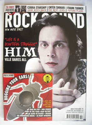 <!--2010-02-->Rock Sound magazine - Ville Valo cover (February 2010)
