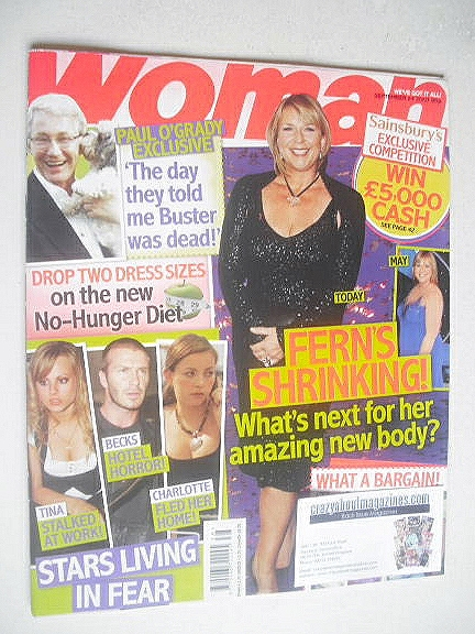 <!--2007-09-24-->Woman magazine - Fern Britton cover (24 September 2007)