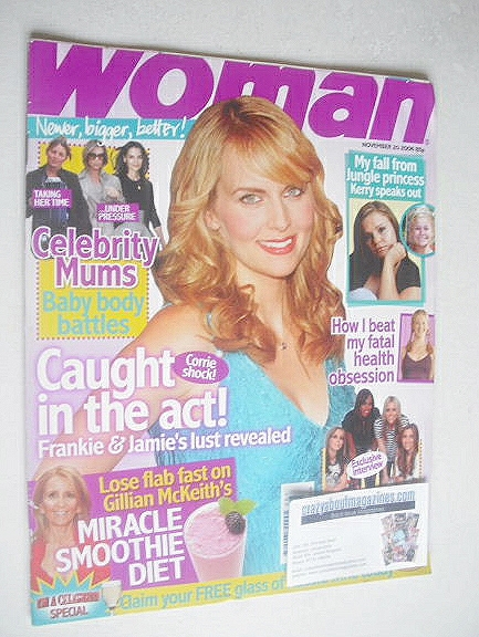 <!--2006-11-20-->Woman magazine - Debra Stephenson cover (20 November 2006)