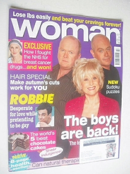 Woman magazine - Ross Kemp, Steve McFadden and Barbara Windsor cover (24 October 2005)