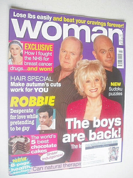<!--2005-10-24-->Woman magazine - Ross Kemp, Steve McFadden and Barbara Win