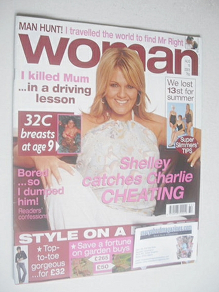 <!--2005-08-15-->Woman magazine - Sally Lindsay cover (15 August 2005)