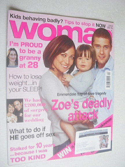 <!--2005-06-20-->Woman magazine - Leah Bracknell and Ben Freeman cover (20