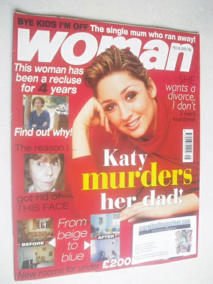 <!--2005-02-28-->Woman magazine - Lucy-Jo Hudson cover (28 February 2005)