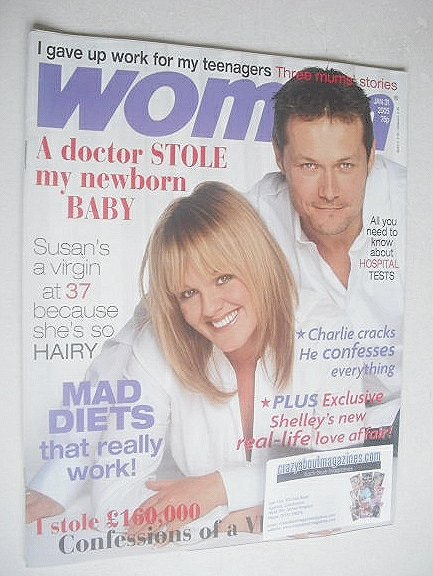 <!--2005-01-31-->Woman magazine - Sally Lindsay and Bill Ward cover (31 Jan