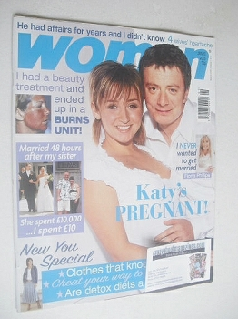 Woman magazine - Lucy-Jo Hudson and Sean Wilson cover (10 January 2005)