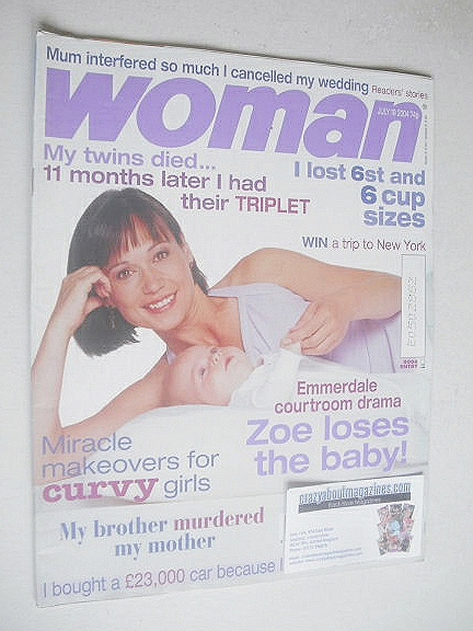 <!--2004-07-19-->Woman magazine - Leah Bracknell cover (19 July 2004)