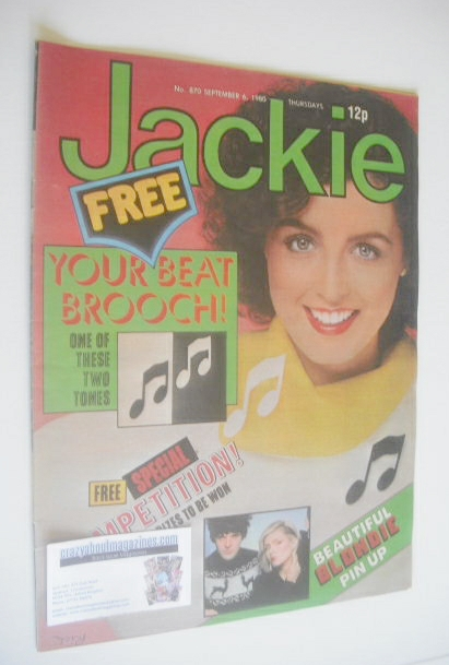 <!--1980-09-06-->Jackie magazine - 6 September 1980 (Issue 870)