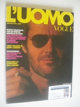 L'Uomo Vogue magazine - August 1975 - Jack Nicholson cover