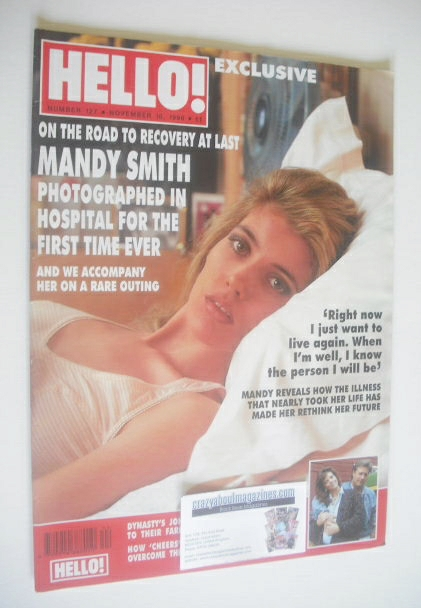 <!--1990-11-10-->Hello! magazine - Mandy Smith cover (10 November 1990 - Is