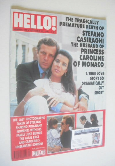 <!--1990-10-13-->Hello! magazine - Princess Caroline and Stefano Casiraghi