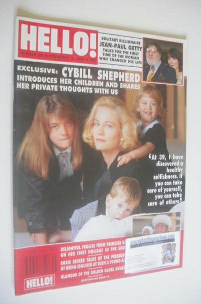 <!--1990-02-03-->Hello! magazine - Cybill Shepherd cover (3 February 1990 -