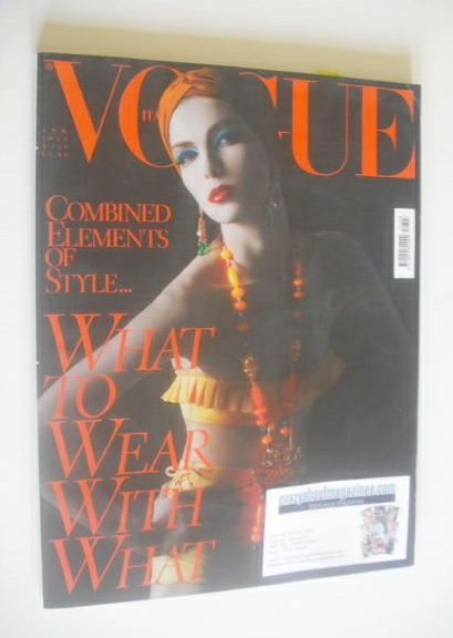 <!--2011-04-->Vogue Italia magazine - April 2011 - Kristina Salinovic cover