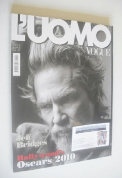 L'Uomo Vogue magazine - March 2010 - Jeff Bridges cover