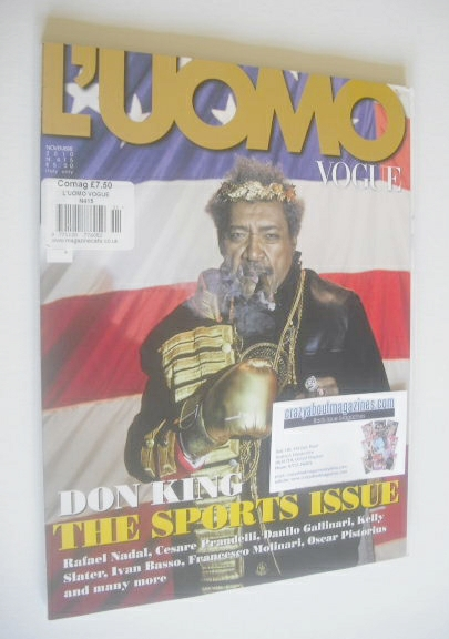 <!--2010-11-->L'Uomo Vogue magazine - November 2010 - Don King cover