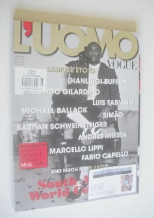 <!--2010-05-->L'Uomo Vogue magazine - May/June 2010 - Samuel Eto'o cover