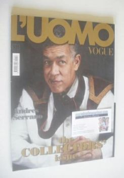 L'Uomo Vogue magazine - April 2010 - Andres Serrano cover