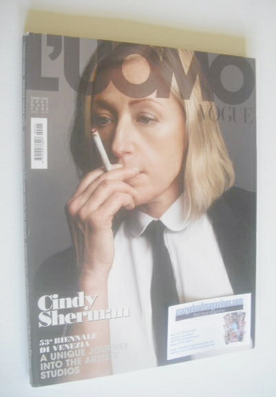 <!--2009-05-->L'Uomo Vogue magazine - May/June 2009 - Cindy Sherman cover