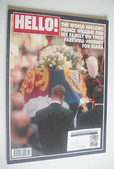 <!--1997-09-13-->Hello! magazine - Princess Diana funeral cover (13 Septemb