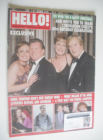 <!--2001-01-02-->Hello! magazine - Coronation Street's 40th Birthday Celebr