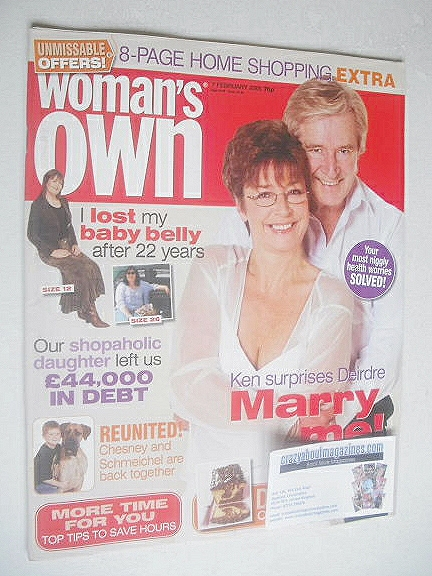 <!--2005-02-07-->Woman's Own magazine - 7 February 2005 - William Roache an