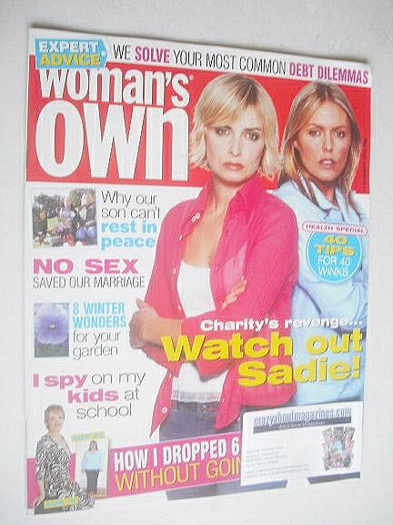 <!--2005-01-17-->Woman's Own magazine - 17 January 2005 - Emma Atkins and P